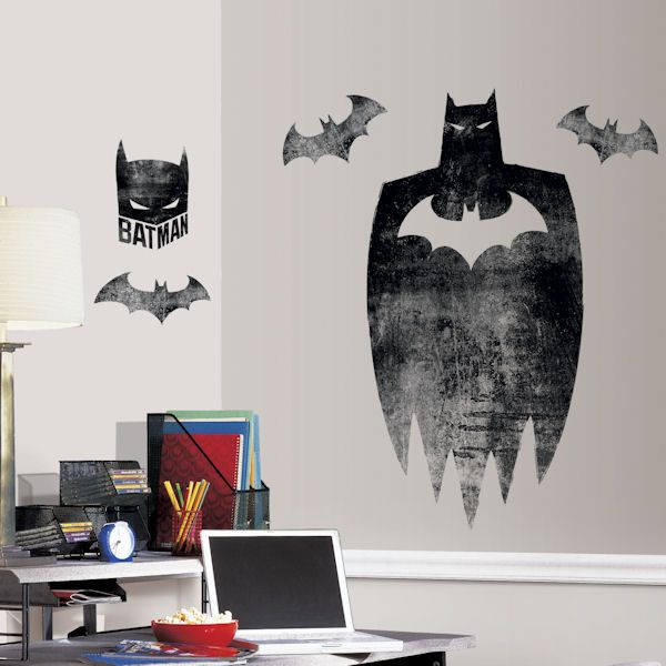 Batman Silhouette Giant Wall Decal   Wall Sticker Outlet