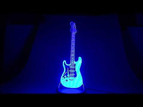 3d Illusion Optical Lamps Video Demo Guitar 3d Optical Illusions Optical Illusions Illusions