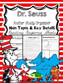 This FOREVER FREEBIE can be used when you do an author study on Theodor Seuss Geisel. Included in the packet:-3 options of Author Study questions-1 Main Topic & Key Details-2 Reading Responses {general}-3 'Horton Hears a Who' Reading Responses-2 'Green Eggs and Ham' Reading Responses-2 'The Lorax' Reading Responses-2 'The Cat in the Hat' Reading Responses-1 'One Fish, Two Fish, Red Fish, Blue Fish' Reading Response**Please leave feedback if you download! :-)***Enjoy!