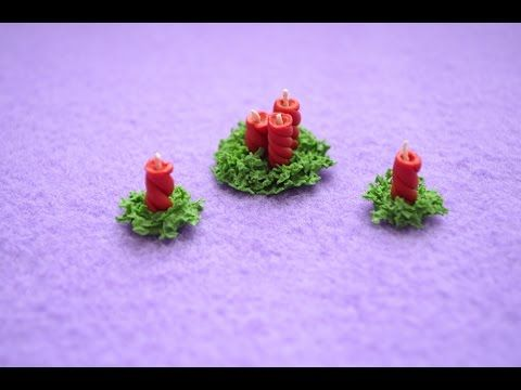 Рождественские свечи (кукольная миниатюра). - YouTube