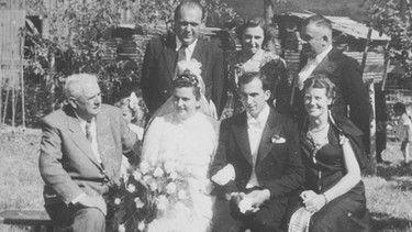 Když prarodiče autora oženit se Mengele jsou zváni.     Image: Soukromé