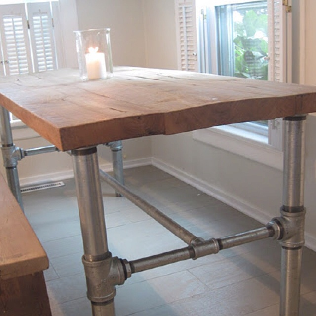 Industrial Pipe Table Base Tutorial By Frugal Farmhouse Design Idea For  Outdoor Table?
