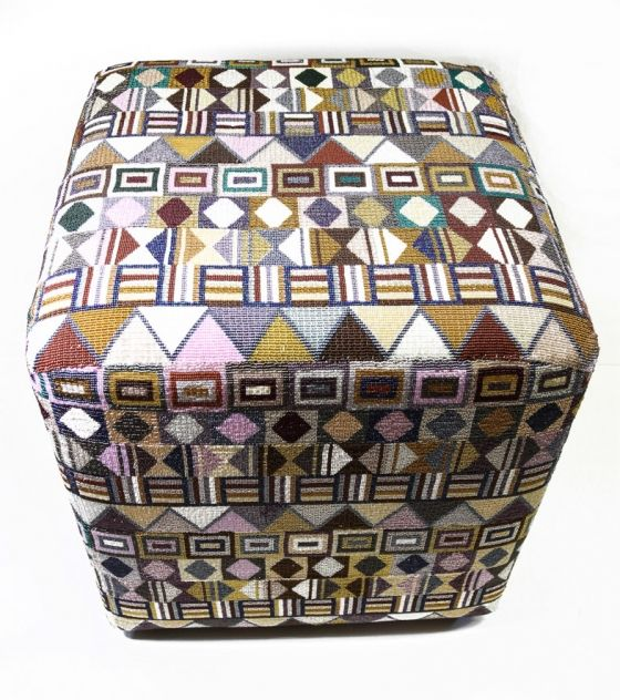 This beaded art ottoman is made from high quality Cezh beads. The beads are sewn onto the ottoman as the art piece unfolds. It consists of beautiful African patterns with different color combinations and is made to order to ensure an unique art piece is created for each client. Purchase from www.wave2africa.com