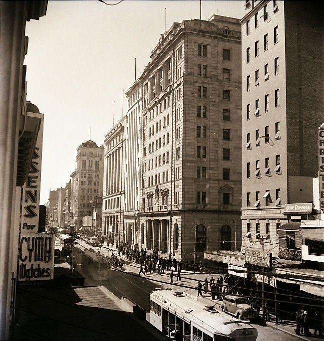 Street scene, Brisbane, 1946