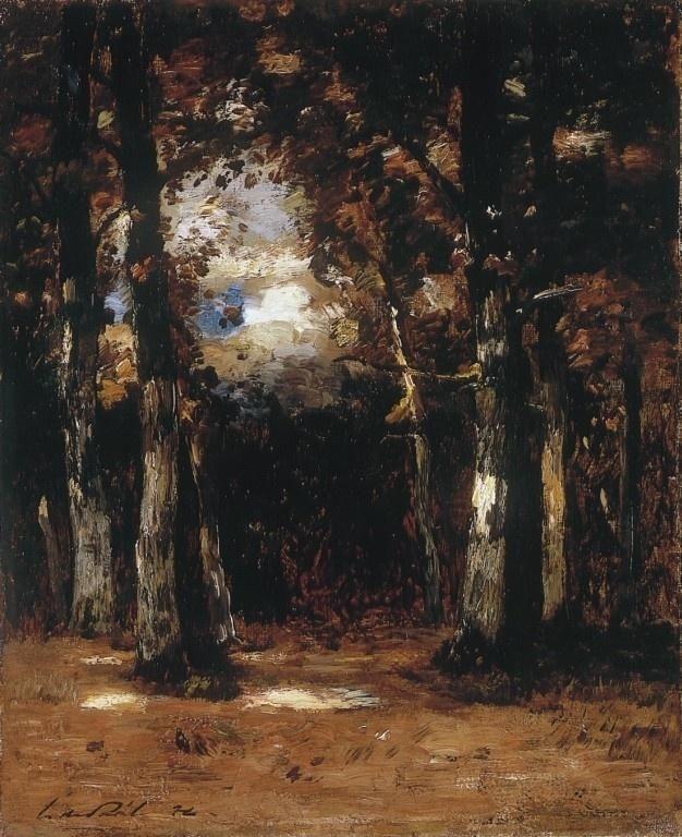 Paál László~Barbizon Forest,  Hungarian (1846 - 1879)