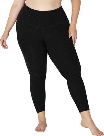 Beyond Yoga Women's Spacedye Midi Leggings Plus Sizes Darkest Night 1X