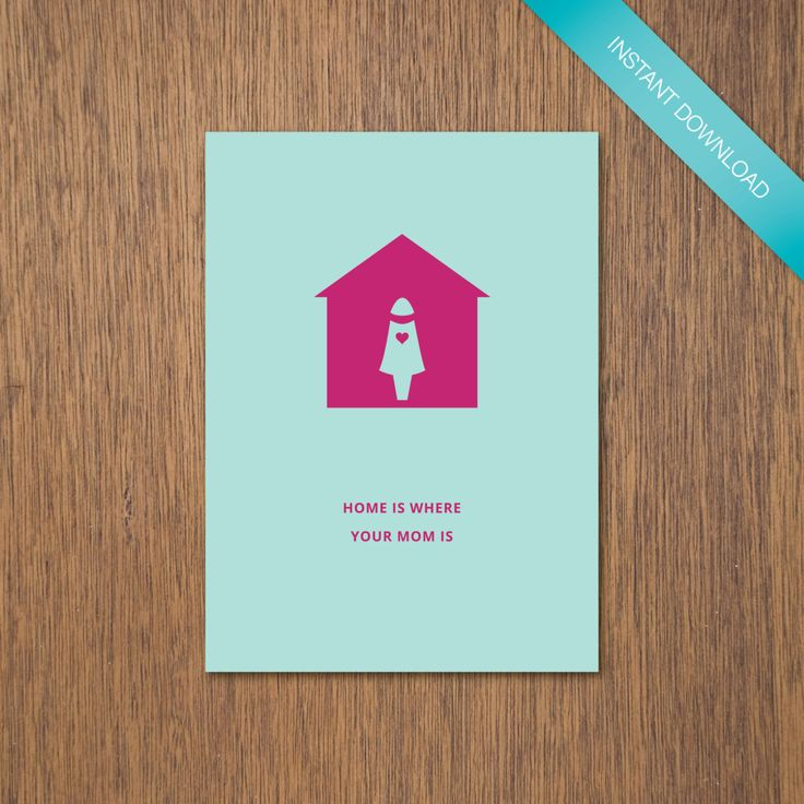 Home is Where Mom (or Mum) is - Light Blue + Magenta | DIY Printable by myPaperCraftsau on Etsy