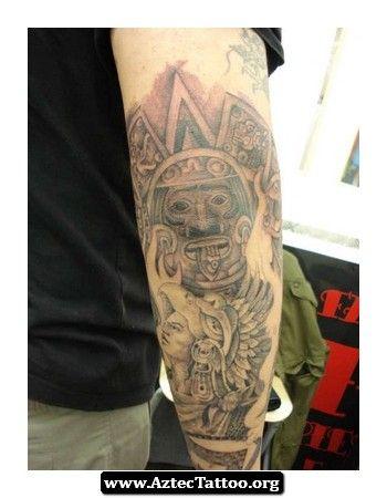 Small Aztec Tattoo Designs 04 - http://aztectattoo.org/small-aztec-tattoo-designs-04/