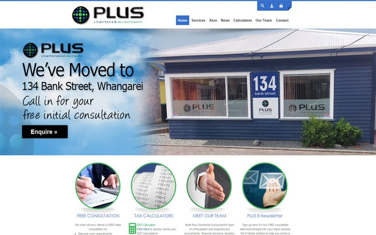 GFM Web Design are proud to include Plus Chartered Accountants as part of their client base.  Check out PlusCA new responsive website www.plusca.co.nz