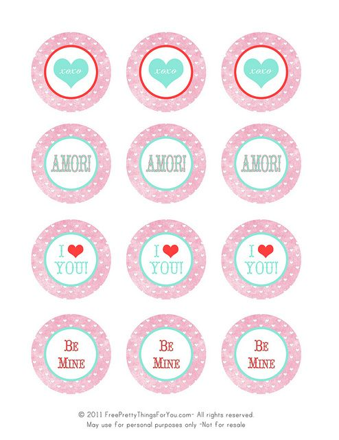 valentines day freebie printable tags  by Free Pretty Things For You!, via Flickr
