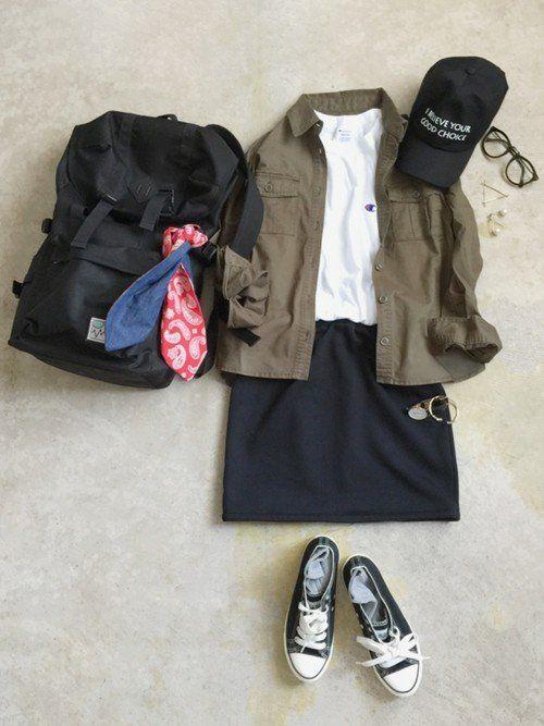 春に活躍するシャツコーデ♡きちんとにもカジュアルにも使えてとっても便利!! | folk