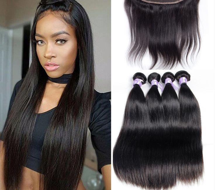 Peruvian Virgin Hair Straight Lace Frontal Closure With 3 Bundles Peruvian Strai-01    https://www.sishair.com/