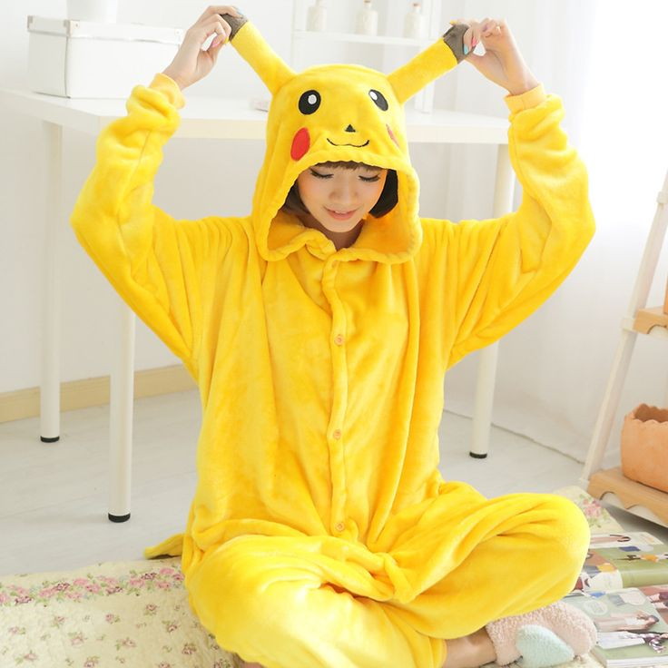 Whole family kids boy girl flannel animal pajamas one piece women cosplay pokemon pikachu pajamas pikachu onesie entero mujer