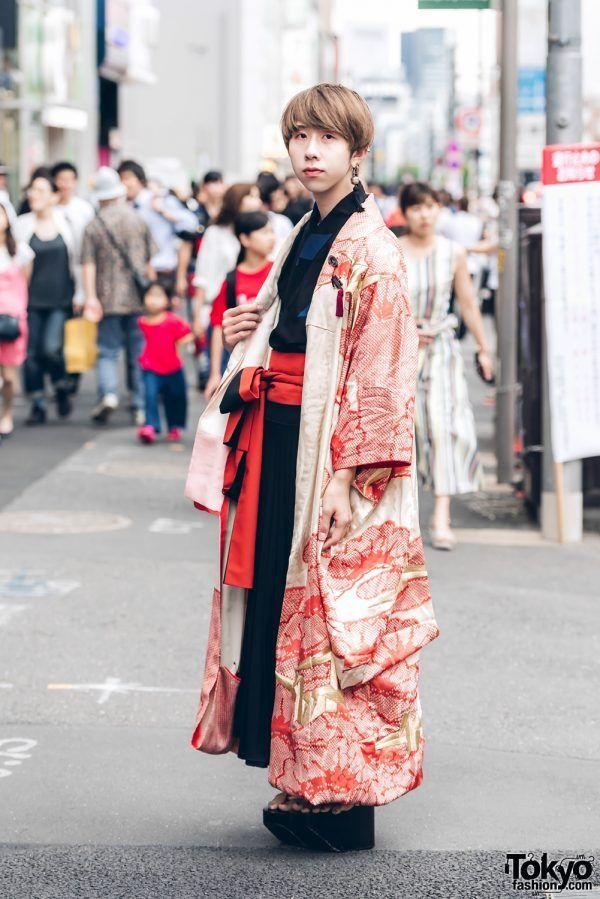 androgynous style w  a Yukata underneath a long flowing Kimono coat ...  Meiji a2992187a