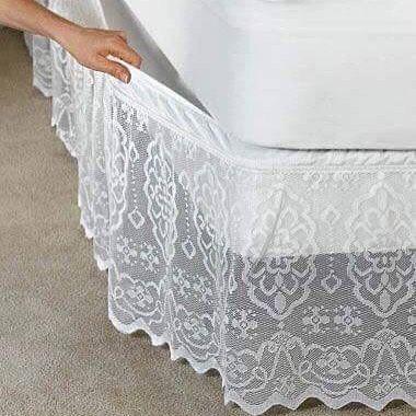 #bedroomdecor #bedsheet #bedvalance #yataketegi #yatak#idea#gikir#online❤️#alinti#lace#dantel#dikis#sewing #hobbycraft #