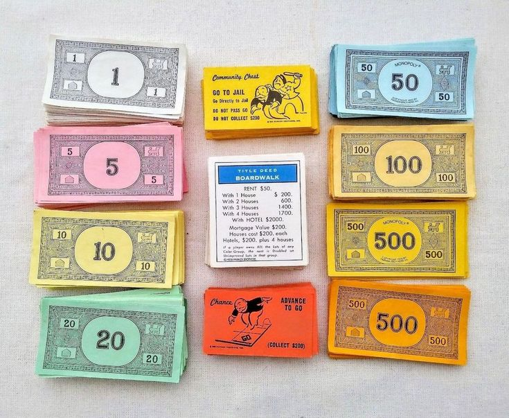 MONOPOLY Replacement Game Cards Chance Community Chest Deeds Money Dollar Bills #ParkerBrothers