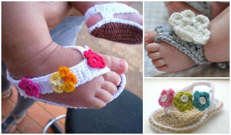 Adorable Crochet Baby Sandals (25 Free Patterns)   DIY Cozy Home