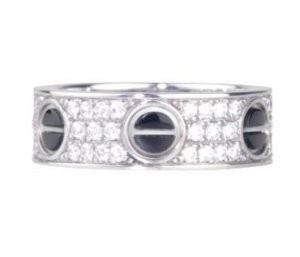 カルティエ 指輪 ダイヤモンドパヴェブラックセラミック