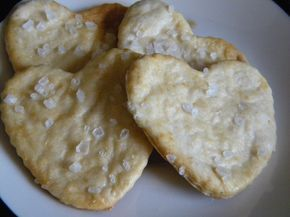 I have wondered how to make crackers as I start to get further and further away from industrialized food. On my list as soon as I use up the oyster crackers I just bought . . . now where to find small little cookie cutters???