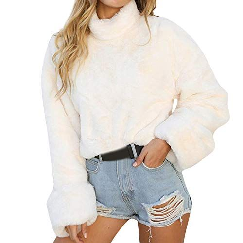 newest collection 7dd42 fe3fe Longra Damen Fleecepullover Winterpullover Winterpullis ...