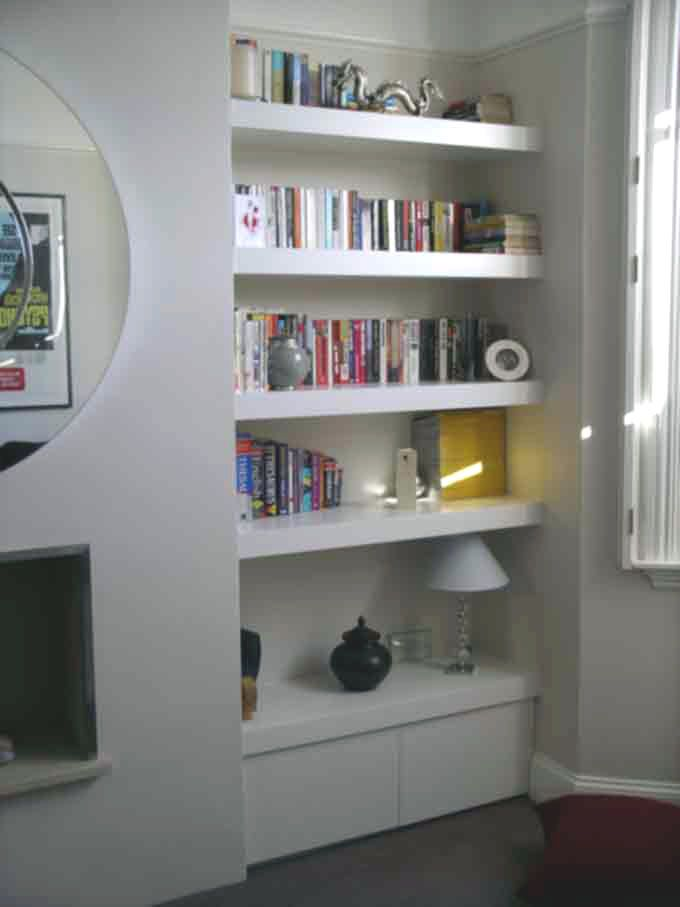 Chubby Floating Shelf Alcove Cupboard By Peter Henderson Furniture Brighton UK Eyebrow Makeup Tips