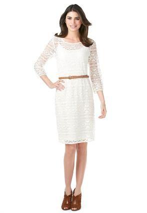 Cato Fashions Belted Lace Shift Dress #CatoFashions