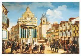 Puerta del Sol. Coronación de Carlos III, 1759. Madrid, España.