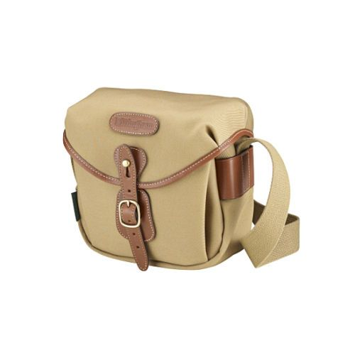 [Billingham] Hadley Digital Khaki FibreNyte Tan Leather Camera Shoulder Bag New