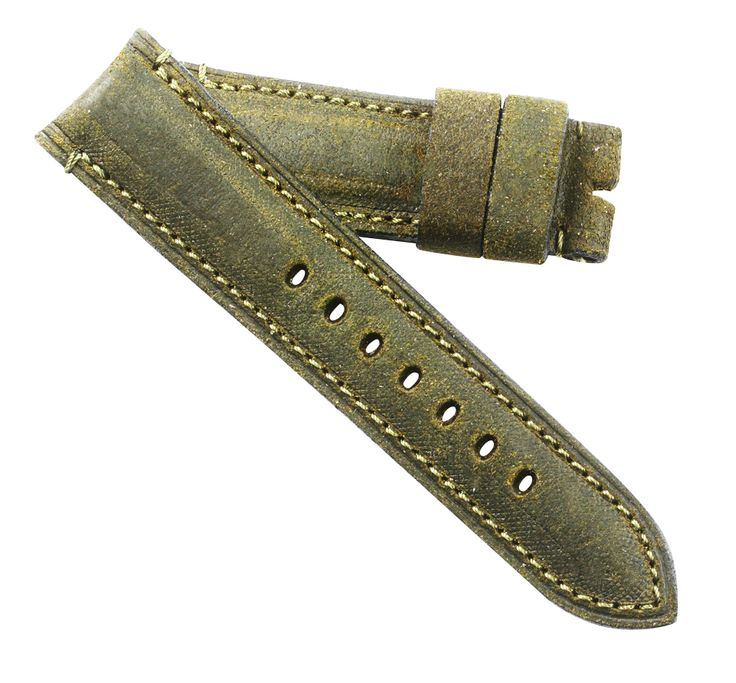Toscana Hand made Olive distressed Tuscan leather for your Panerai OEM buckle