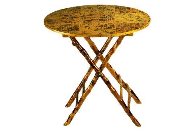 Anneliese Folding Table, Tortoise