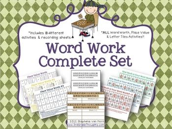 3rd Grade Thoughts: Launching Permanent Word Work Centers {Week 2}