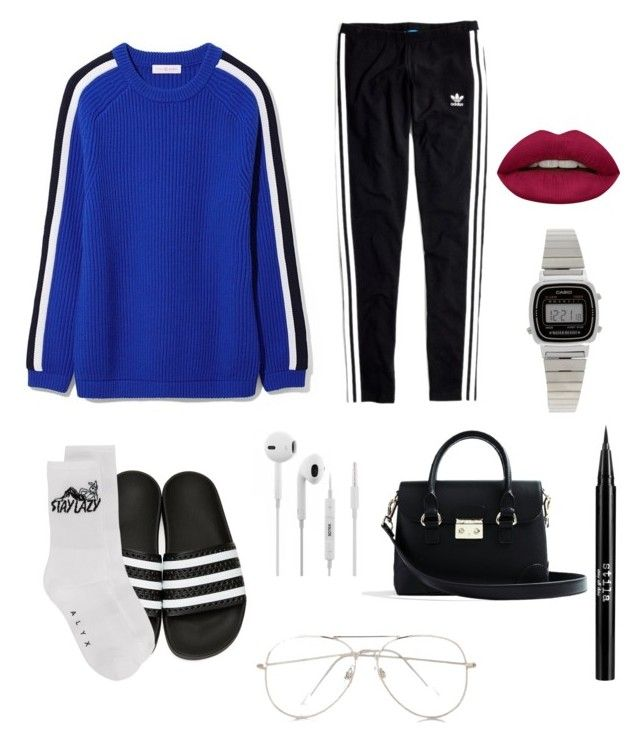 """""""Untitled #166"""" by ezerys on Polyvore featuring Tory Burch, Madewell, adidas Originals, Alyx, Express, Casio, Huda Beauty and Stila"""