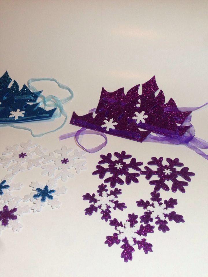 Purple frozen crowns birthday