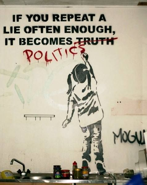 Graffiti by Bansky, one of the coolest street artists