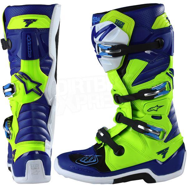 Alpinestars Tech 7 Boots Ltd Troy Lee Designs Flo Yellow