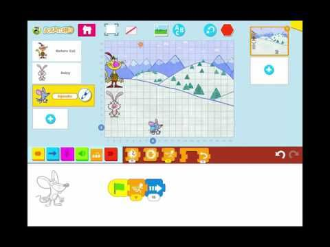 Create a Simple Race Game Animation in Scratch Jr - YouTube