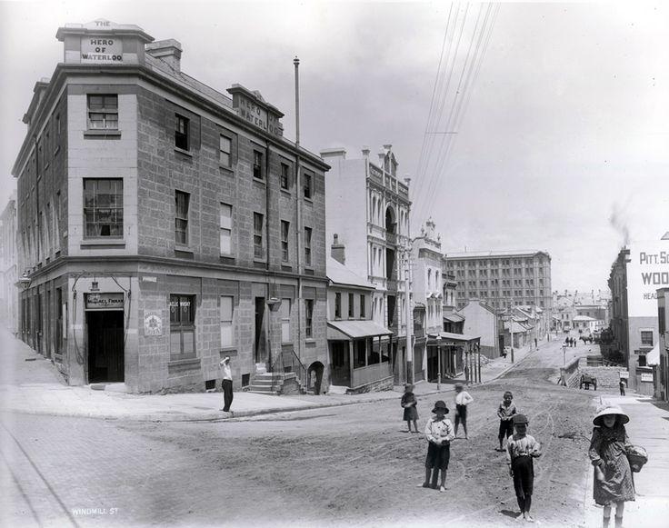 Hero of Waterloo Hotel, Windmill Street, The Rocks, Sydney c1901