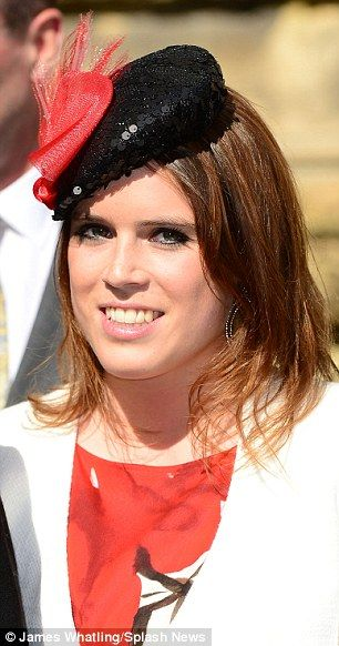 6/8/13.    Relaxed: Princess Eugenie attends the Wedding of Rupert Finch and Natasha Rufus Isaacs