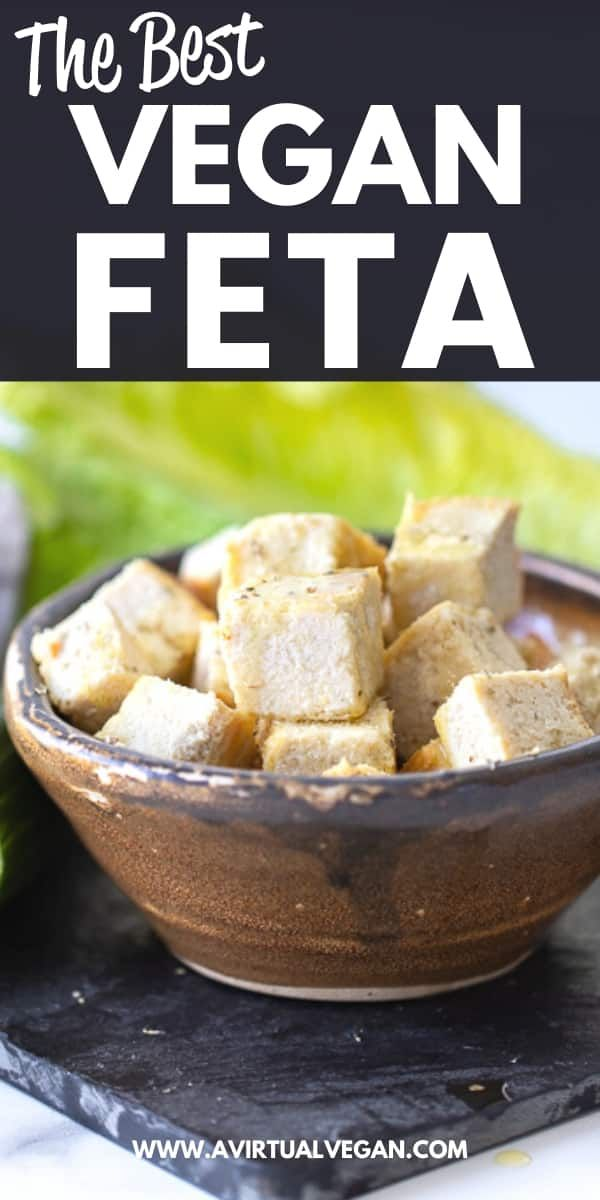 Vegan Feta Cheese That Tastes Crumbles Like Real Feta A Virtual Vegan Recipe In 2020 Vegan Feta Cheese Vegan Cheese Recipes Tofu Recipes Vegan