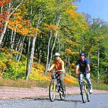 bicycling the Fundy Trail Parkway