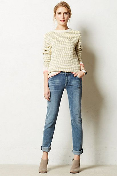 STYLING | Citizens of Humanity Ava Straight Leg Jeans  #anthropologie