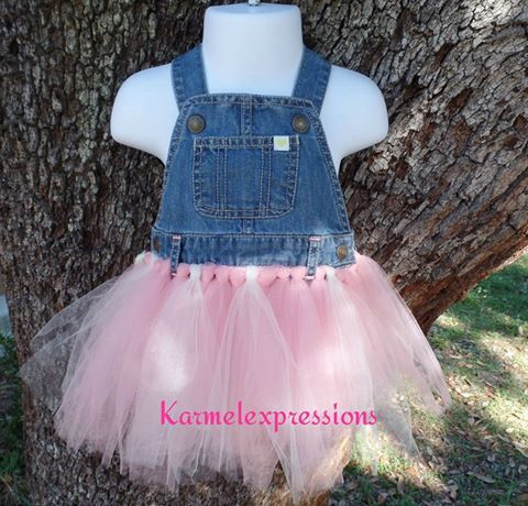 Check out this item in my Etsy shop https://www.etsy.com/listing/225465593/denimjean-overalls-tutu-dress