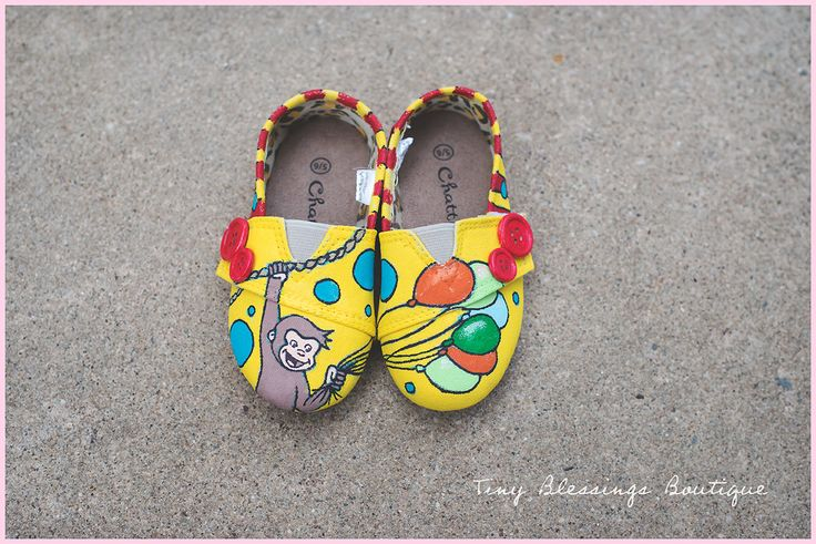 Hand Painted Curious George Shoes - Made to Order Curious George Toddler Shoes - Custom Curious George - Toddler Infant Cartoon Shoes by TinyBlessingsShop on Etsy https://www.etsy.com/listing/230053572/hand-painted-curious-george-shoes-made