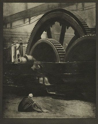 Alvin Langdon Coburn - The Lord of the Dynamos. Photogravure used as illustration in 'The Door in the Wall and Other Stories' by H. G. Wells.