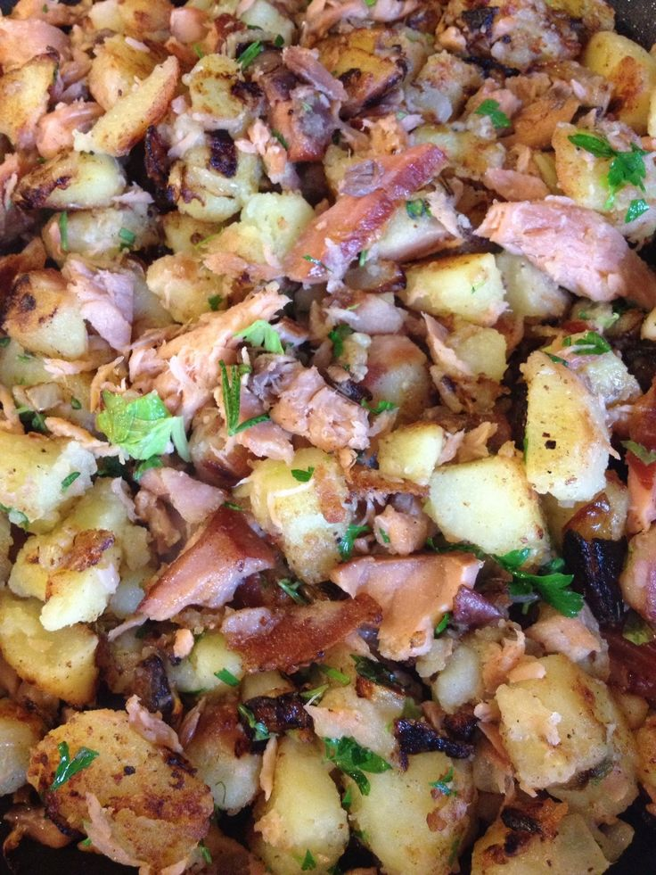 Smoked Salmon Hash | food | Pinterest