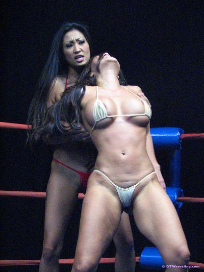 Sexede Kvinder Wrestling