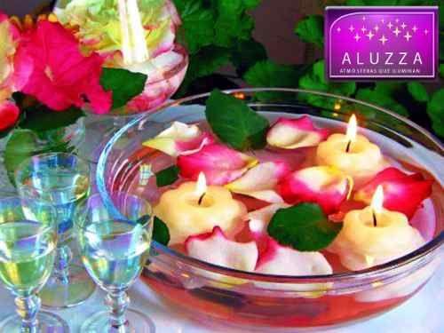 Vela Flotante En Forma De Flor. 25 Piezas Aluzza - $ 175.00