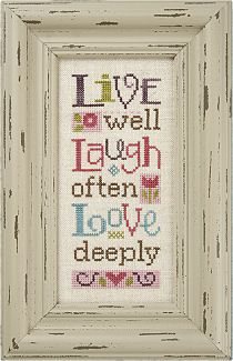 Lizzie Kate, Live Laugh Love, Counted Cross Stitch Pattern