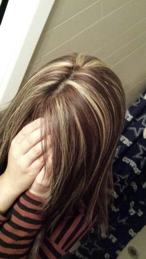 Chocolate Brown With Blonde Highlights Things I Loveee
