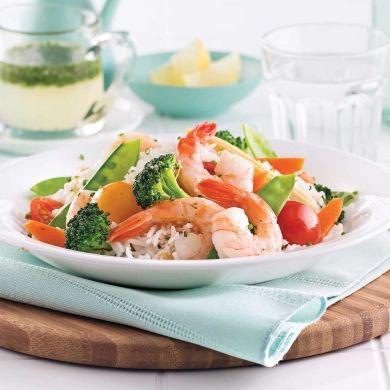 Sauté de crevettes citronnées - Soupers de semaine - Recettes 5-15 - Recettes express 5/15 - Pratico Pratique